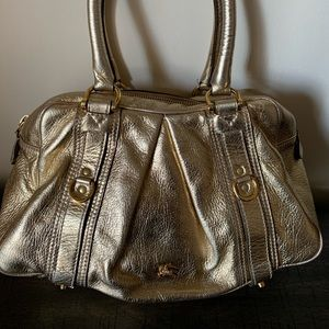 Burberry (Asbury) Grained Leather Top Handle Bag